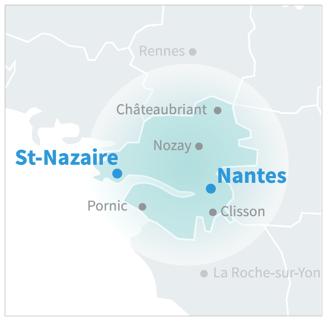Zone d'intervention Nantnet, société de nettoyage industriel